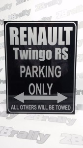 znak RENAULT TWINGO RS PARKING ONLY