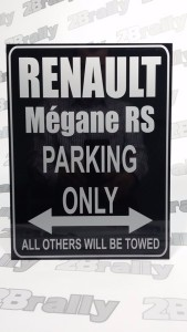 znak RENAULT MEGANE RS PARKING ONLY